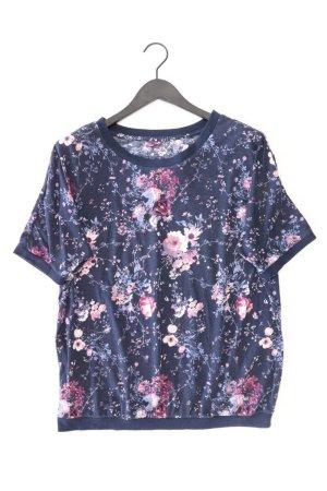 Printshirt Größe 46 mit Blumenmuster Kurzarm blau