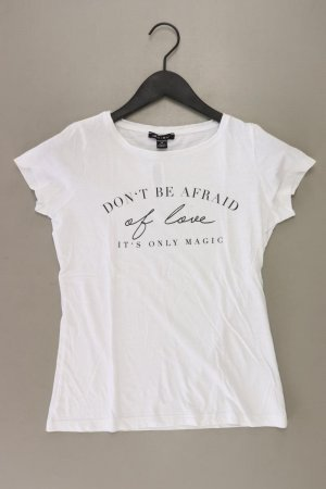 Printshirt Größe XS Kurzarm weiß aus Baumwolle