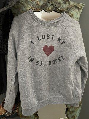 Printsweatshirt grau