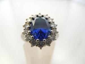 """""""Prinzessin Diana"""" Style Verlobung 925 Luxus Silber Ring echt Silberring Echtschmuck"""