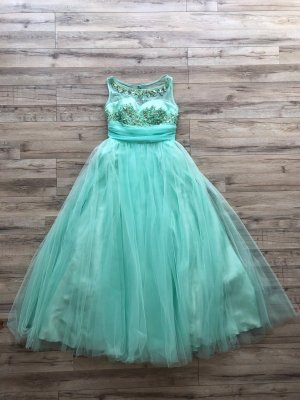 Prinzessinnen Abendkleid Gr.36 S Bodenlang Tüll Mintgrün