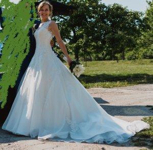 Prinzessinnen Brautkleid Justin Alexander Sincerity lange Schleppe, tiefer Rücken