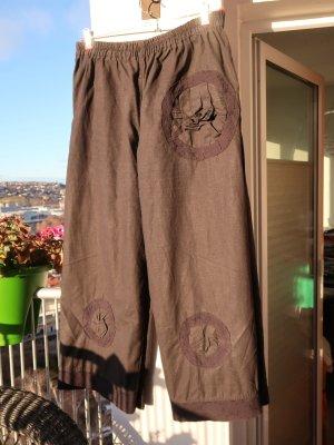 Pantalone di lino nero Lino