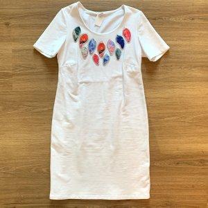 Privacy Vestido de tela de sudadera blanco Algodón