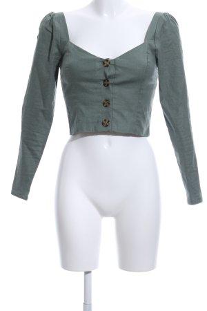 Privacy Please Langarm-Bluse khaki-graubraun Casual-Look