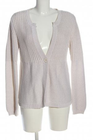 Private Industries Cardigan wollweiß Zopfmuster Casual-Look