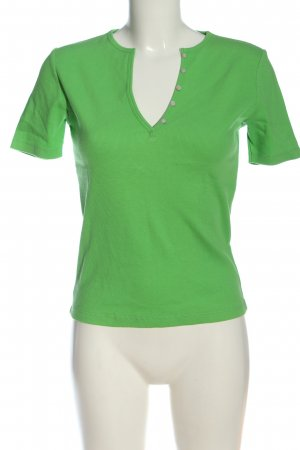 Private Industries Camisa acanalada verde look casual
