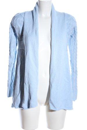 Private Industries Strick Cardigan blau Zopfmuster Casual-Look