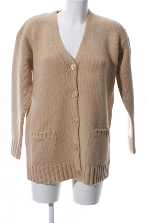 Private Industries Strickjacke wollweiß Zopfmuster Casual-Look