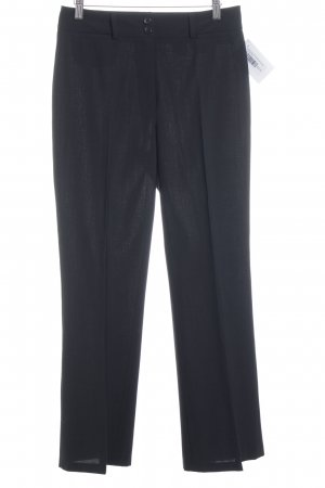 Private Label Bundfaltenhose schwarz Business-Look