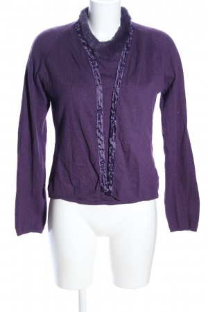 Private Label Strick Twin Set lila Casual-Look