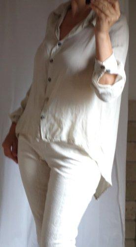 Long Blouse beige viscose