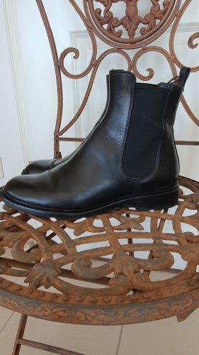 Proenza Schouler Chelsea Boots 37 schwarz Schuhe Stiefletten Stiefel Leder