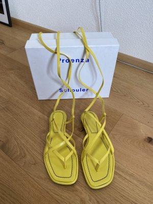 Proenza schouler Sandalias romanas amarillo