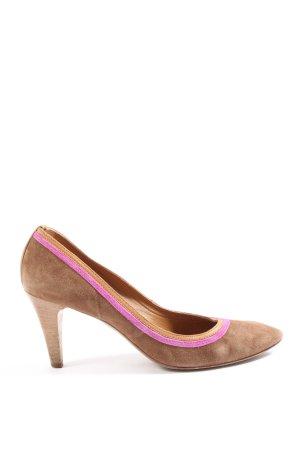 Progetto High Heels braun-pink Business-Look