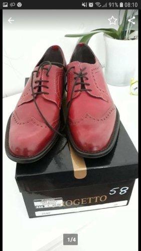 Progetto Leder Schuhe Bordeaux gr 38