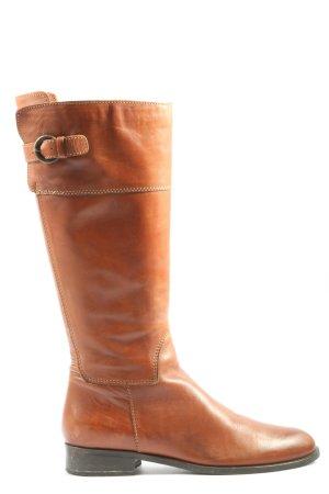Progetto Wide Calf Boots light orange casual look