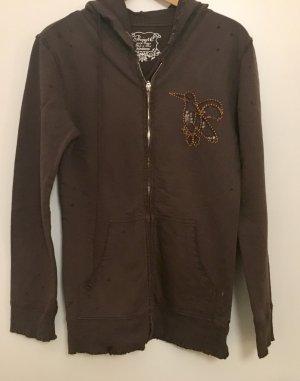 Project Clothing Kurtka z kapturem brązowy Bawełna