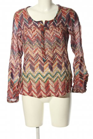 promiss Langarm-Bluse grafisches Muster Casual-Look