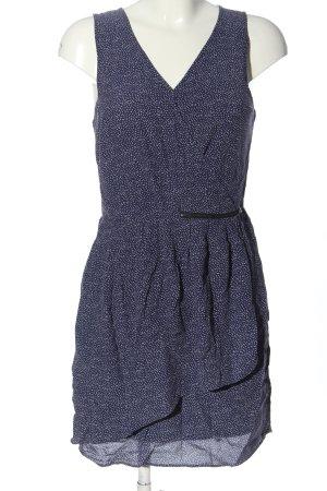 Promod Robe trapèze bleu-blanc imprimé allover style décontracté