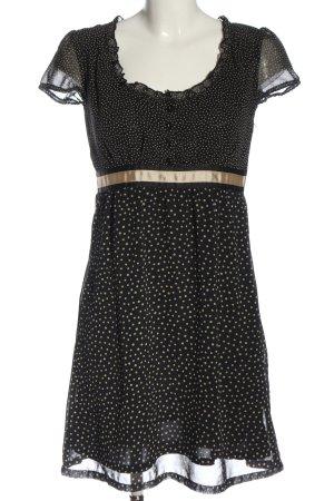 Promod Vestido línea A negro-blanco puro look casual