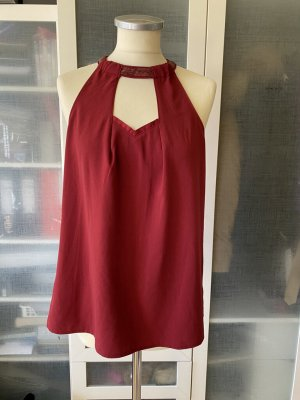 Promod Top cut-out rosso scuro Viscosa