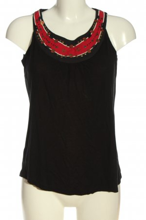 Promod Blusa senza maniche nero-rosso stile casual