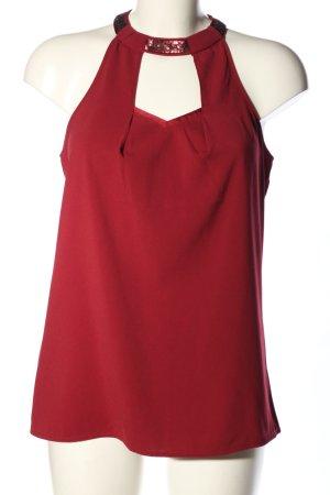 Promod ärmellose Bluse braun Casual-Look