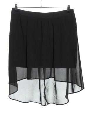 Promod Asymetryczna spódniczka czarny W stylu casual