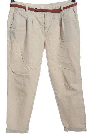 Promod Pantalon «Baggy» blanc cassé style d'affaires