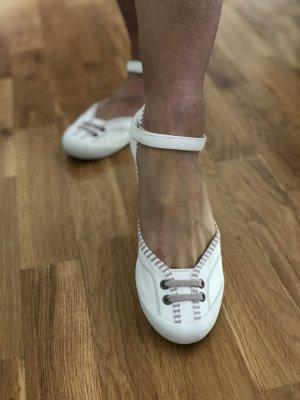 Promod Strappy Ballerinas white-light grey