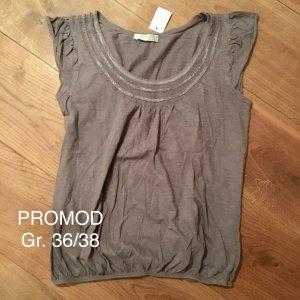 PROMOD Ballon Shirt Gr. 36/38 staublila pastell top