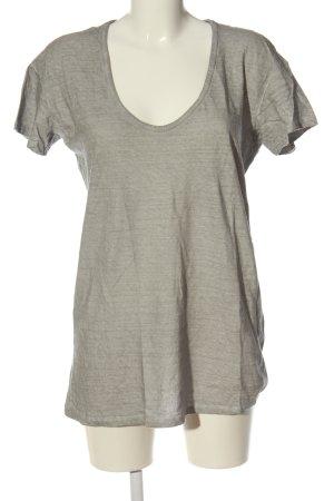 Promod Basic-Shirt hellgrau meliert Casual-Look