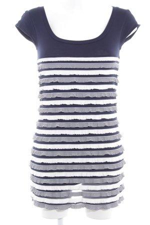 Promod Bleistiftkleid dunkelblau-weiß Streifenmuster Casual-Look