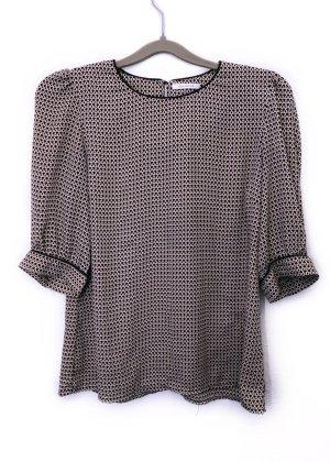 Promod Bluse Shirt Muster Rosa Beige Größe S Damen Neu 29,99€