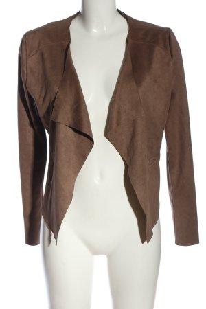 Promod Chaqueta tipo blusa marrón look casual