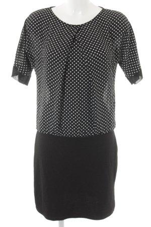Promod Blusenkleid schwarz-weiß Elegant