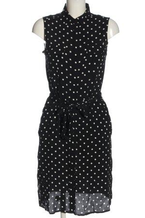 Promod Blusenkleid schwarz-weiß Punktemuster Casual-Look