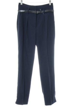 Promod Bundfaltenhose blau Business-Look