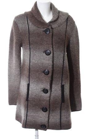 Promod Cardigan braun-wollweiß Farbverlauf Casual-Look