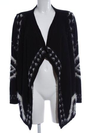 Promod Cardigan schwarz-weiß abstraktes Muster Casual-Look