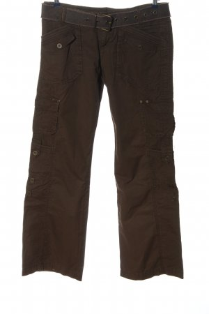 Promod Pantalone cargo marrone stile casual