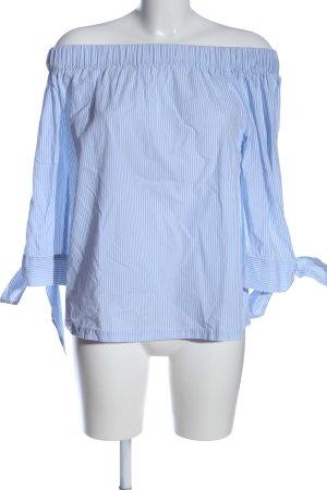 Promod Carmen Blouse blue-white allover print casual look