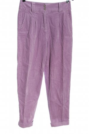 Promod Corduroy Trousers lilac casual look