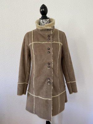 PROMOD Damen Flauschiger Mantel Braun Gr. 38 TOP !!