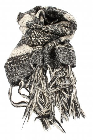 Promod Fringed Scarf natural white-black flecked casual look