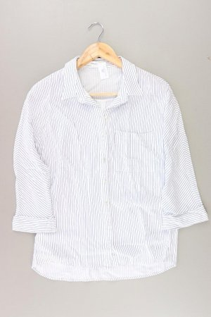 Promod gestreifte Bluse Größe 38 neuwertig weiß aus Viskose