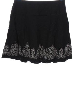 Promod Glockenrock schwarz grafisches Muster Casual-Look