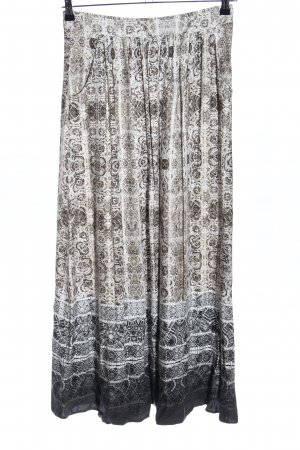 Promod Godet Skirt black-natural white mixed pattern casual look