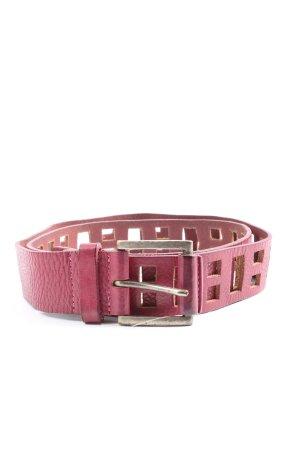Promod Hebilla del cinturón rosa look casual